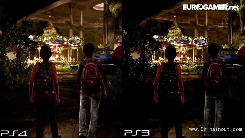 最后生还者PS3/PS4画质:差距一目了然