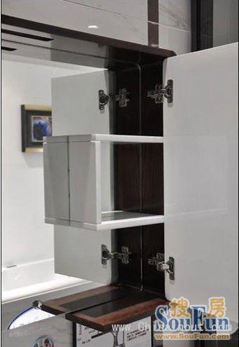 箭牌然•木系列浴室柜置物功能丰富