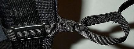 Sternum strap slider/elastic loop