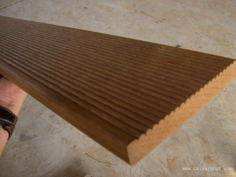 Merbau deck reeded