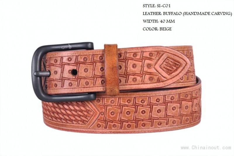 印度手工雕刻皮雕腰带 leather belts