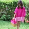粉色披风 Poncho Fouta Pink