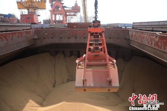 盤錦港迎首艘進境糧食船舶 載5萬余噸巴西進口大豆2